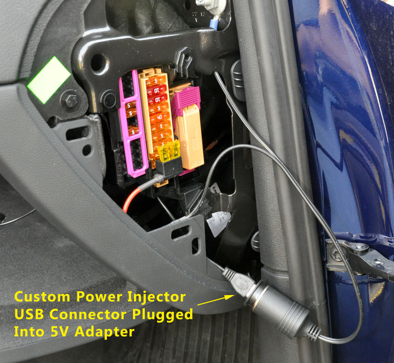 a2dp4audi hardwire power kit installation instructions move back to the fuse panel area and plug the usb connector you pushed through the hole in the glove box into the 5v adapter